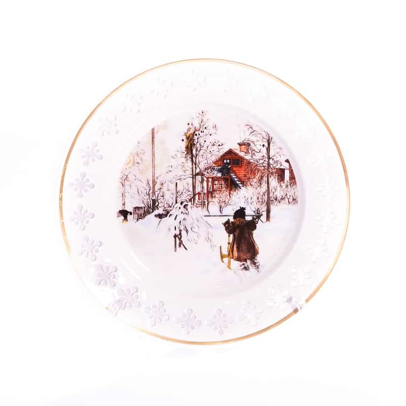 Тарелка фарфоровая «Пристройка в саду»