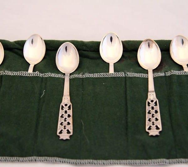 Набор чайных ложек «Принцесса» в зелёном чехле