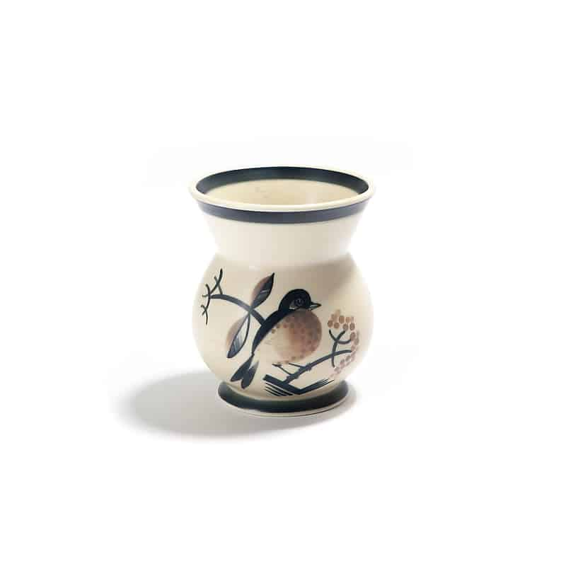 Фарфоровая ваза «Птица на ветке»