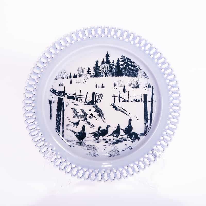 Фарфоровая тарелка из серии «Животные в рассвете. Фазаны»
