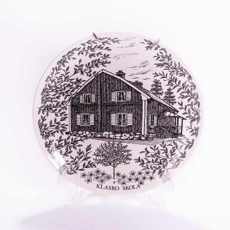 Фарфоровая тарелка «Школа»