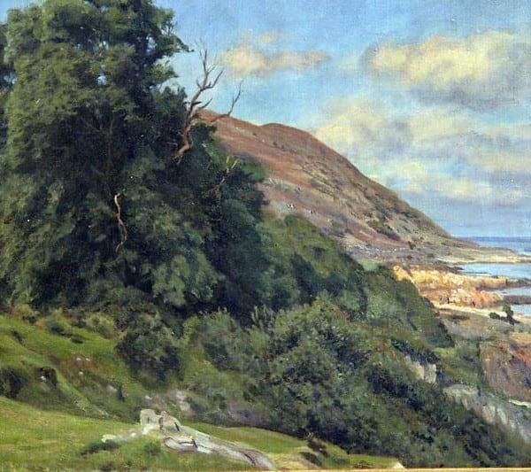 Картина «Прибрежная сцена с вересковыми холмами»