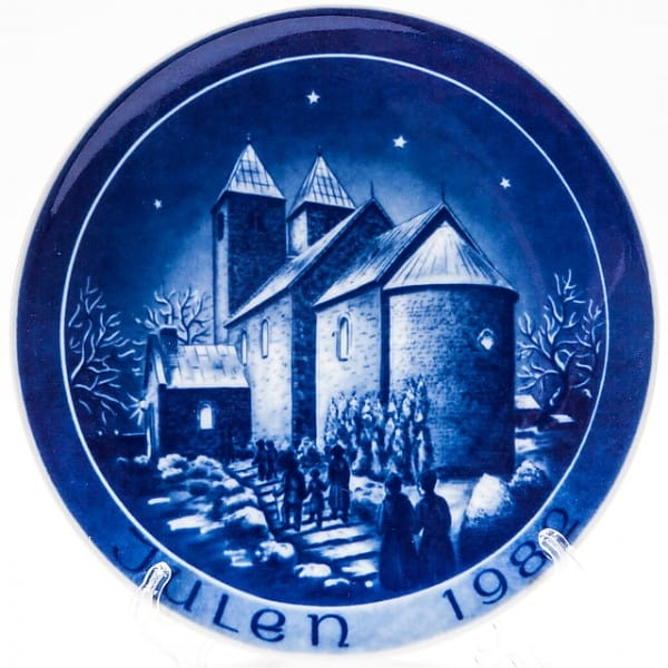 Декоративная фарфоровая тарелка «Рождество. Церковь»