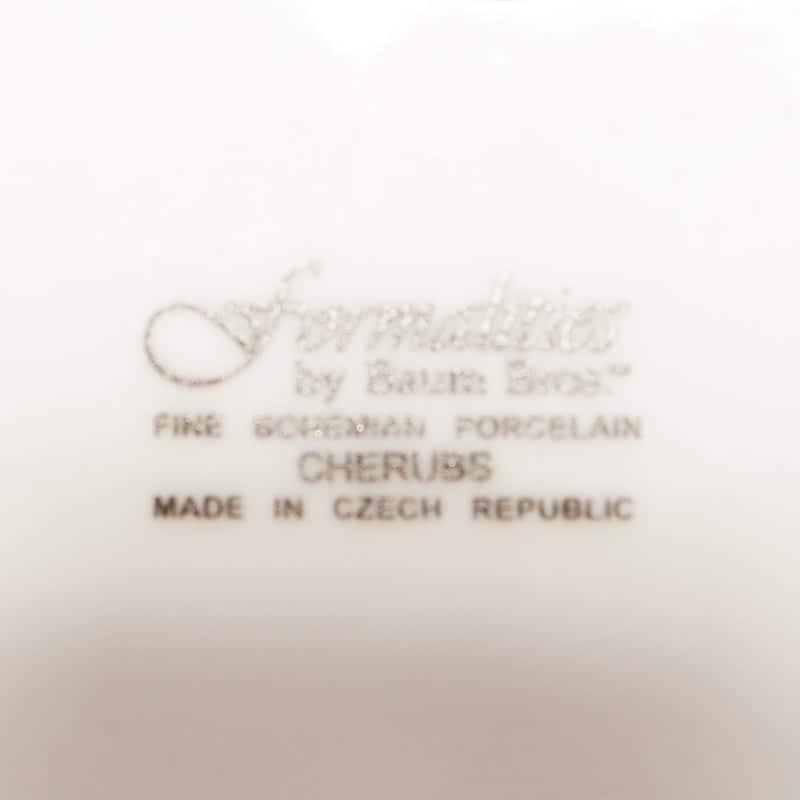 Фарфоровая тарелка «Херувим-скульптор»