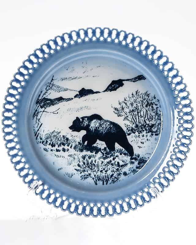 Фарфоровая тарелка «Медведь»