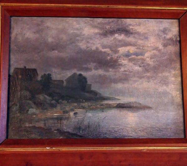 Картина «Прибрежная сцена в лунном свете»