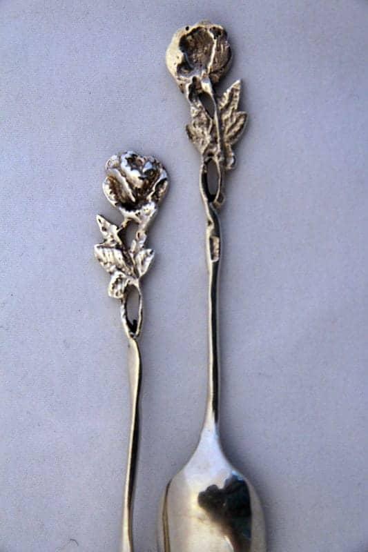Набор из ложек и щипчиков для сахара «Роза»