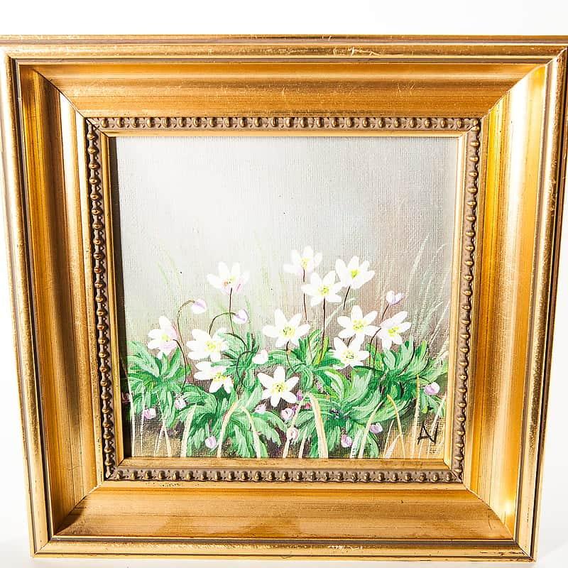 Картина маслом «Лесная морошка»