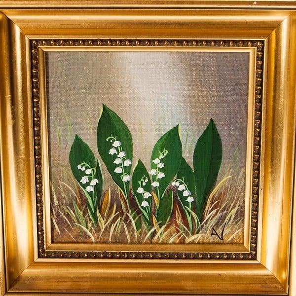 Картина маслом «Ландыши»