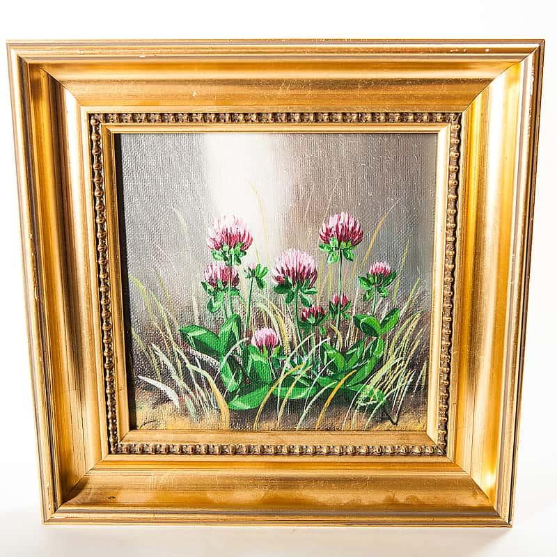 Картина маслом «Цветы клевера»
