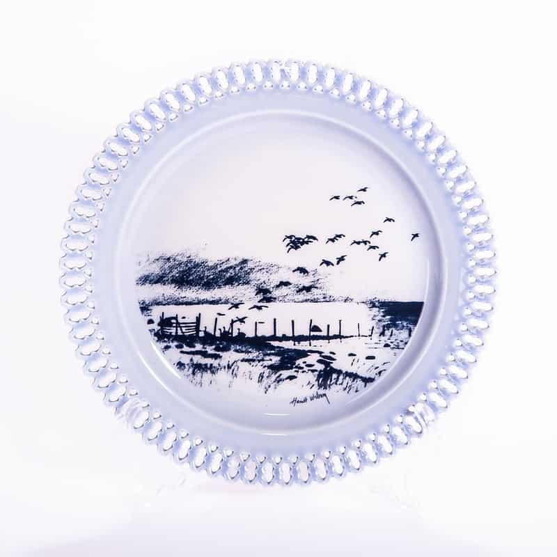 Фарфоровая тарелка из серии «Животные в рассвете. Дикие утки»