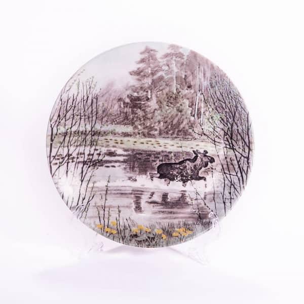 Фарфоровая тарелка «Царь леса»