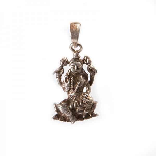 Серебряный кулон «Богиня Лакшми» (индийское божество)