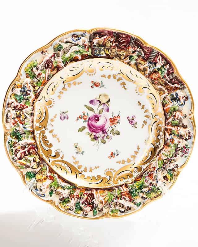 Набор из 6-ти фарфоровых тарелок