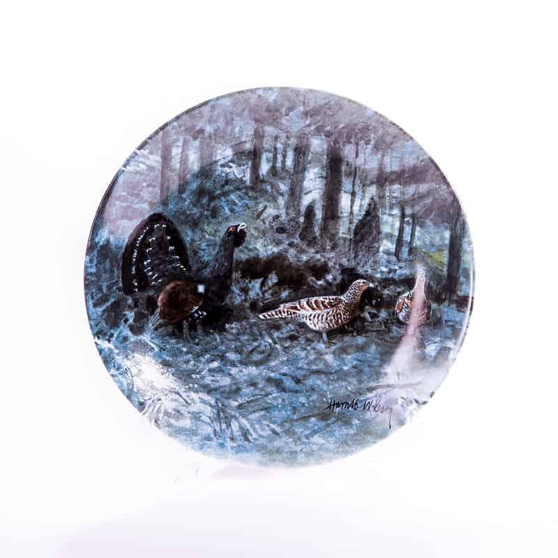 Фарфоровая тарелка «Глухарь в лесу»