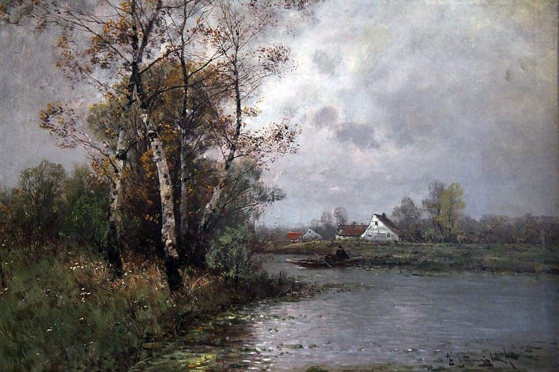 Картина «Летний день на озере»