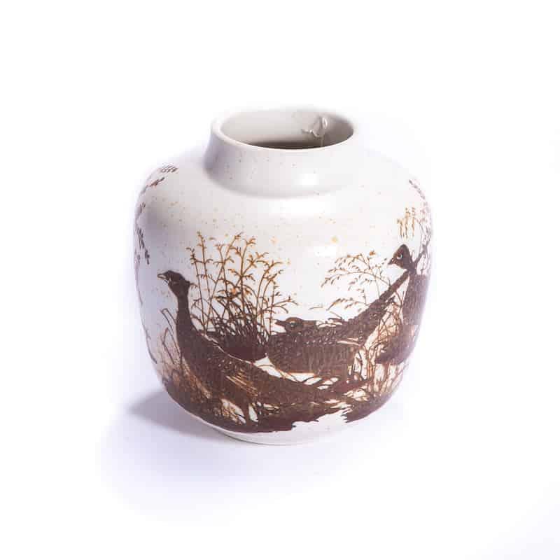 Фарфоровая ваза с глухарями