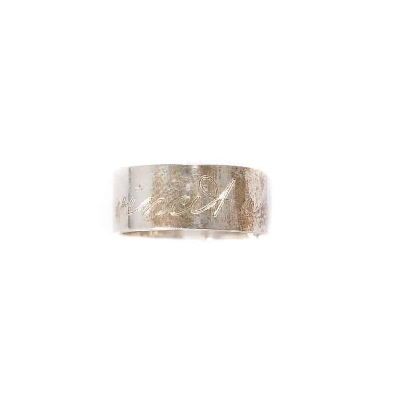 Серебряное кольцо «Мантра»