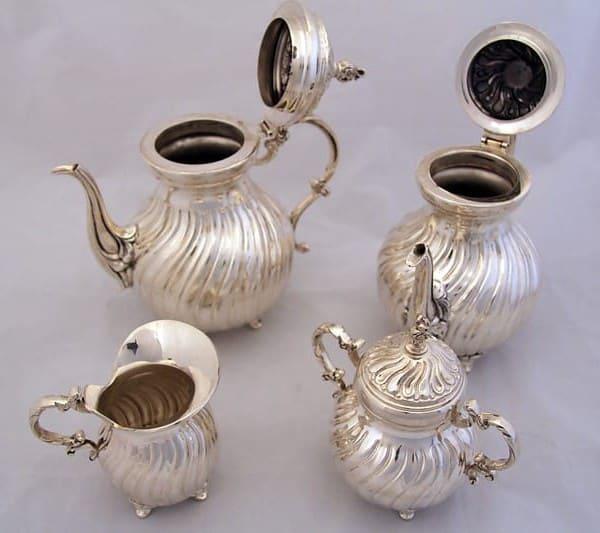 Серебряный кофейно-чайный набор