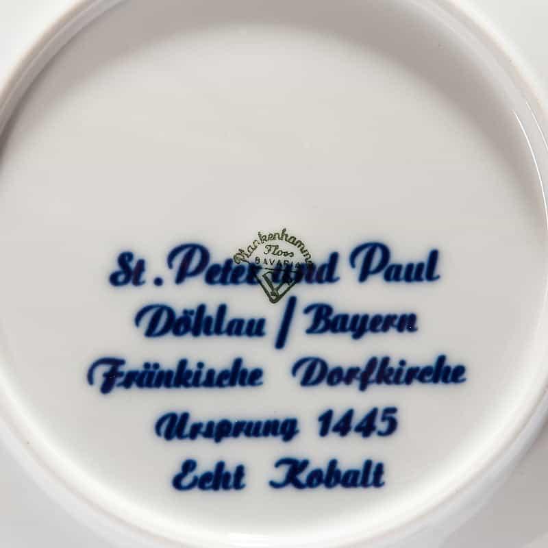 Фарфоровая тарелка «Рождество 1983»