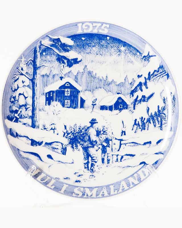Декоративная тарелка «Возвращение с ёлкой»