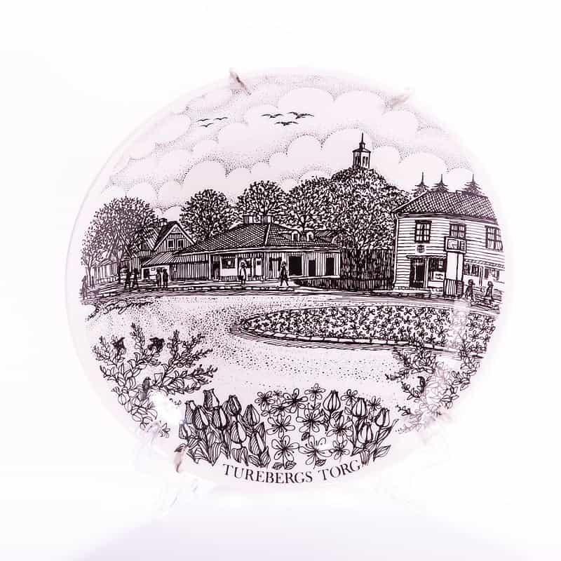 Фарфоровая тарелка «Площадь Торенберг»
