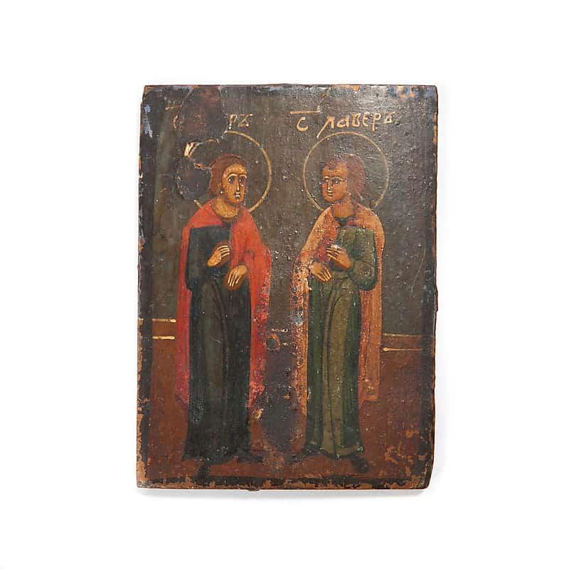 Икона «Святые мученики Флор и Лавр»