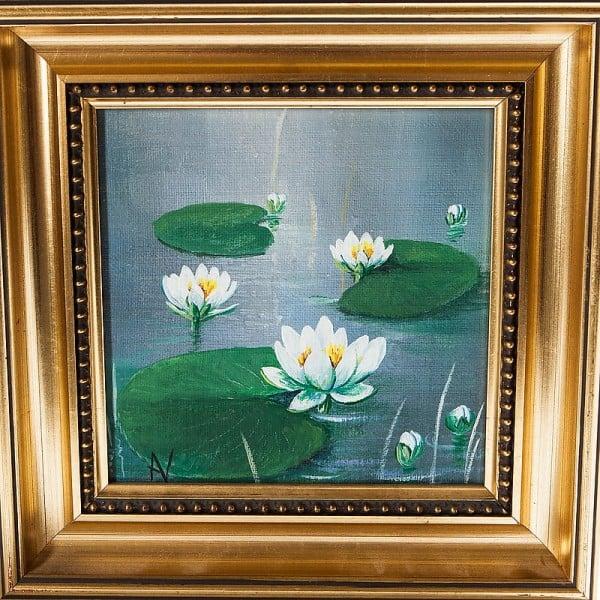 Картина маслом «Кувшинки»