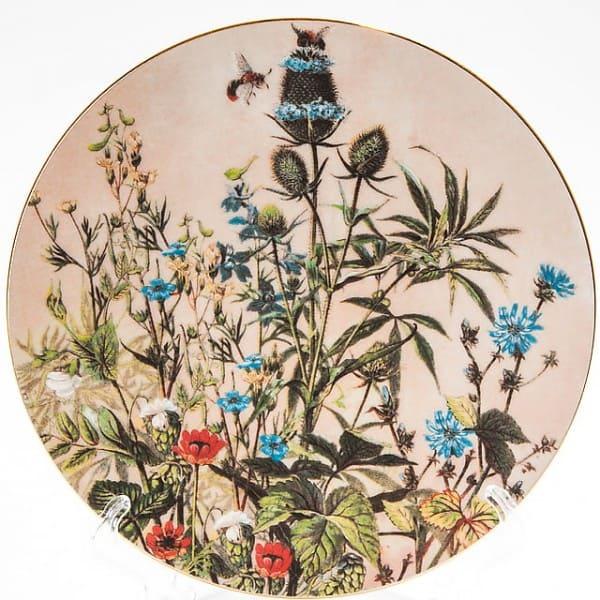 Фарфоровая тарелка серии «Флора. Цветы»