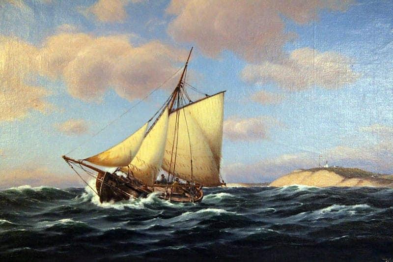 Картина «Корабль на всех парусах»