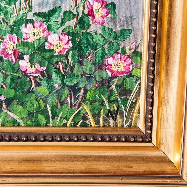 Картина маслом «Вейгела розовая»