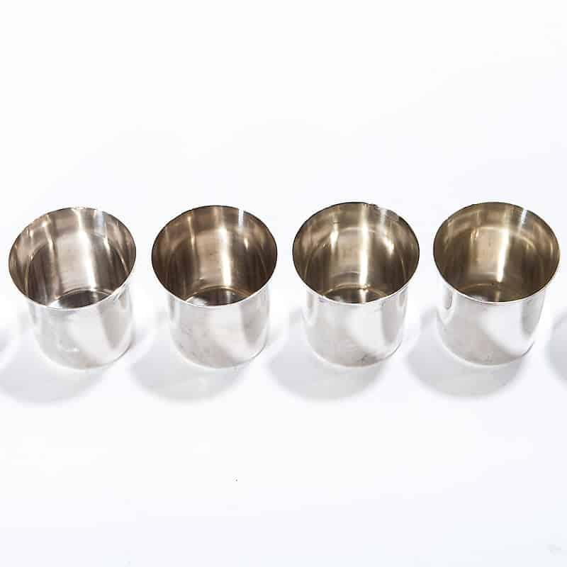 Набор из 6-ти серебряных стопок