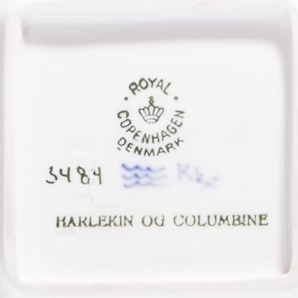 Фарфоровая плакетка «Арлекин иБалерина»