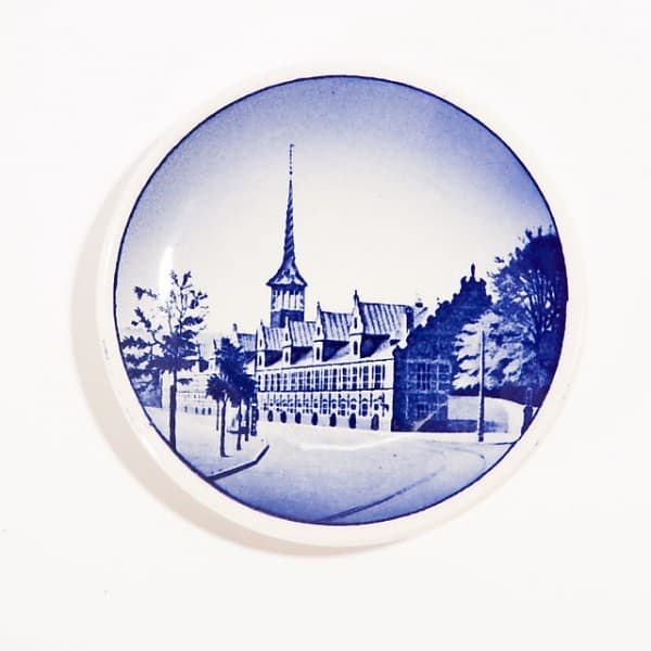 Декоративная тарелка «Городская башня»