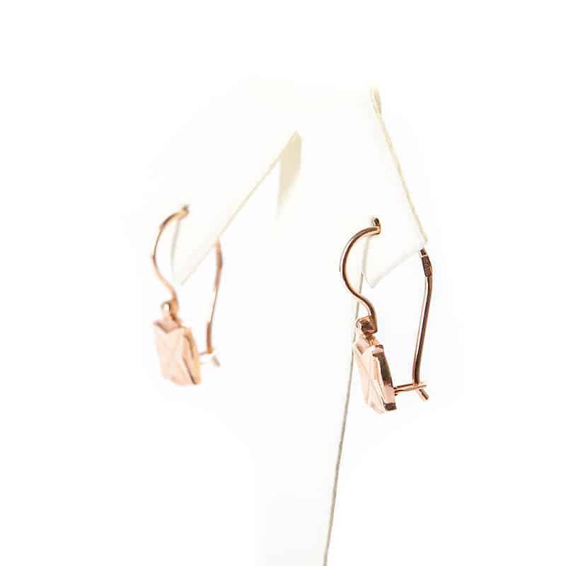 Золотые серьги «Ромб»