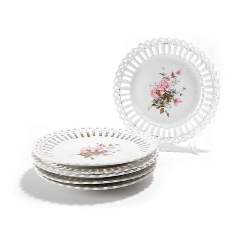 Набор из 6 фарфоровых тарелок