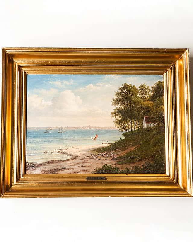 Картина «Летний день вХольбеке наберегу Эрессуна»