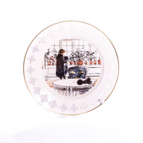 Тарелка фарфор «Цветы на окне»