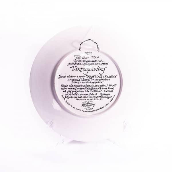 Фарфоровая тарелка «Зима барсука»