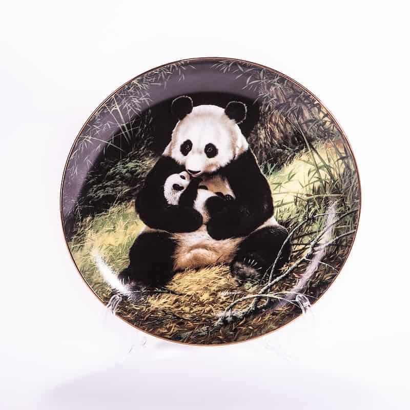 Тарелка фарфоровая «Панда»