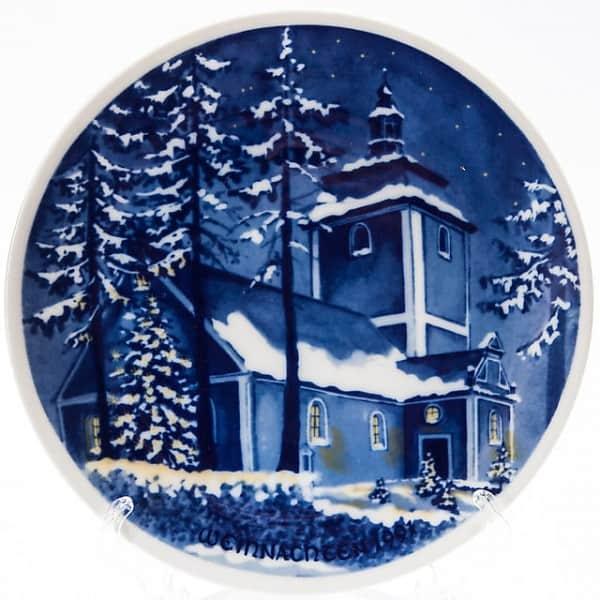 Фарфоровая тарелка «Рождество 1991»