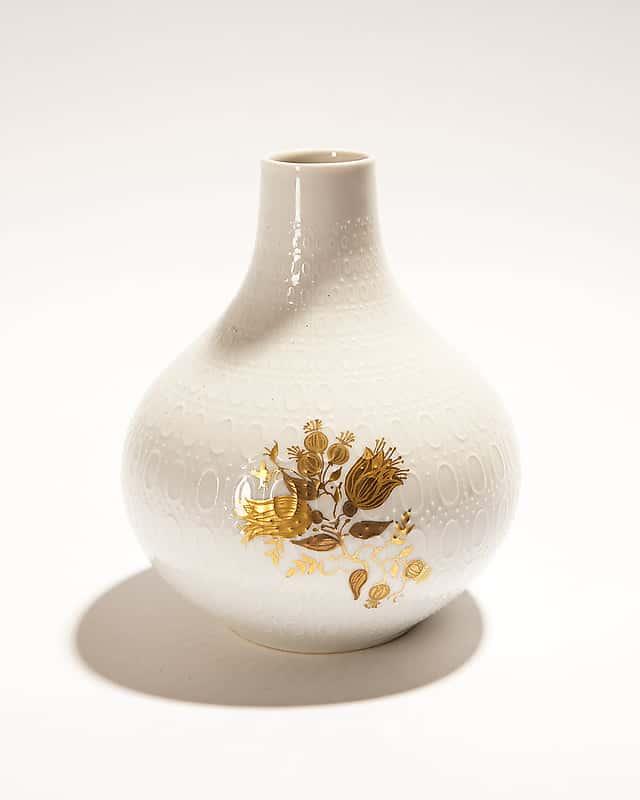 Вазочка-кубышка «Золотые цветы»