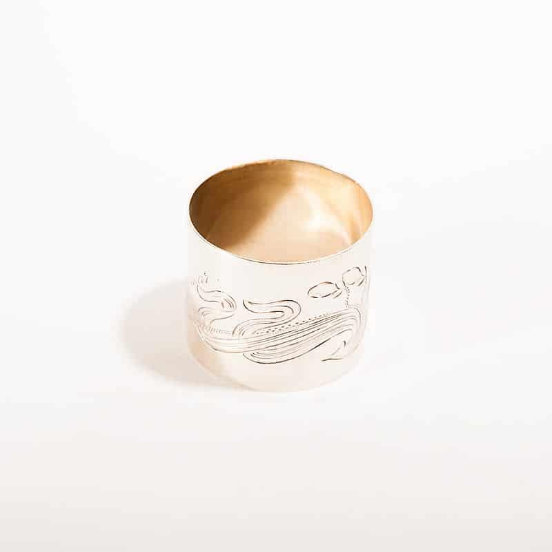 Серебряное кольцо для сервировки