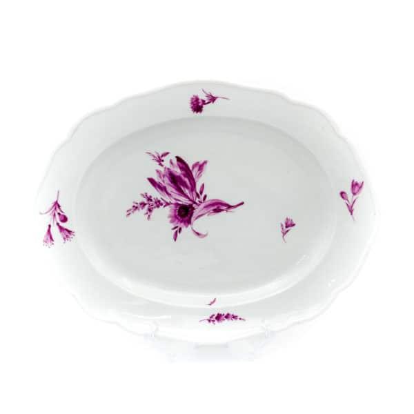 antikvarnoe blyudo purpurnyy tsvetok