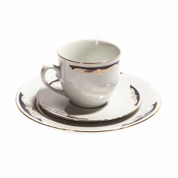 Чашка фарфоровая и блюдца