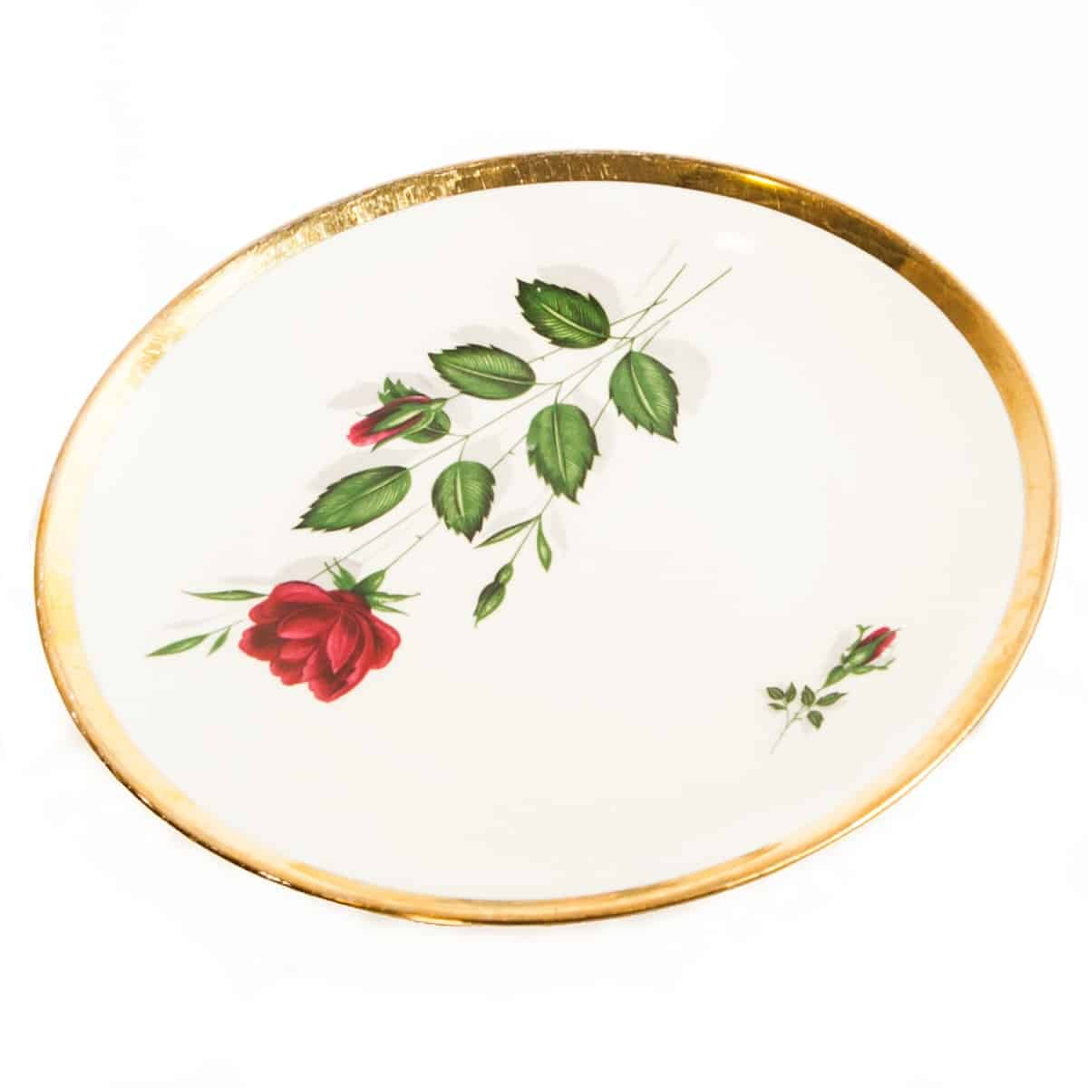 Тарелка с розой