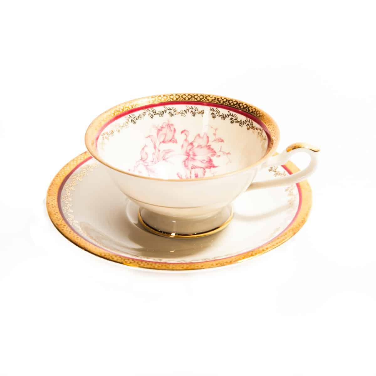 Чайный комплект с позолотой