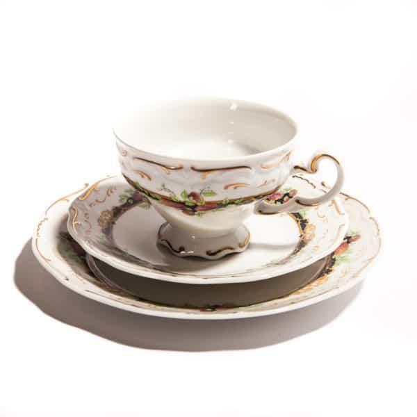 Чайная тройка с неровным углами