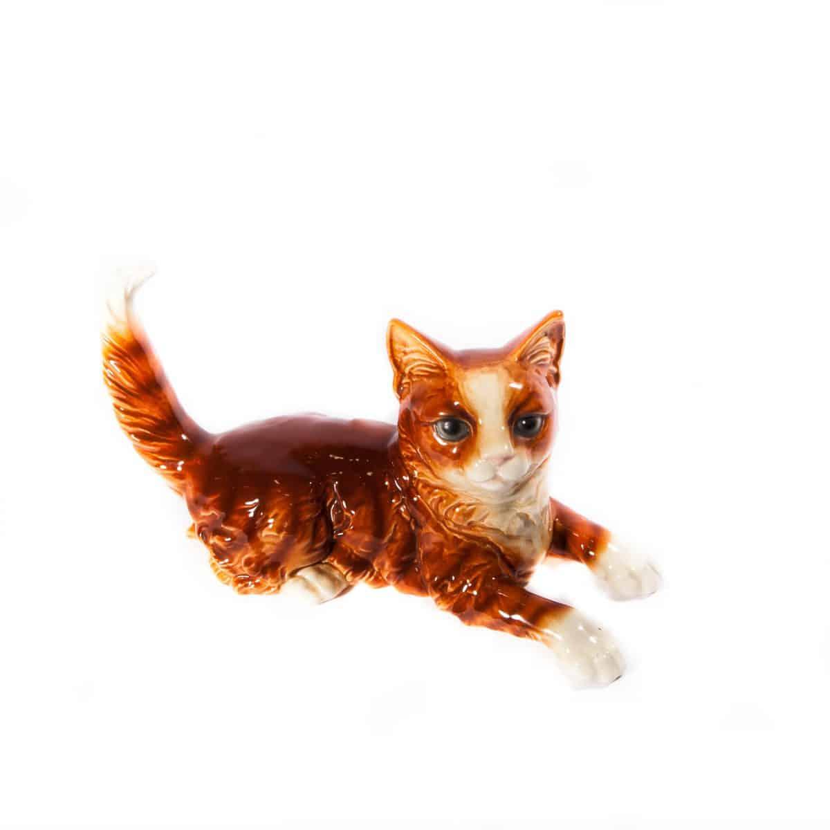 """Фарфоровая статуэтка """"Рыжий котик"""""""