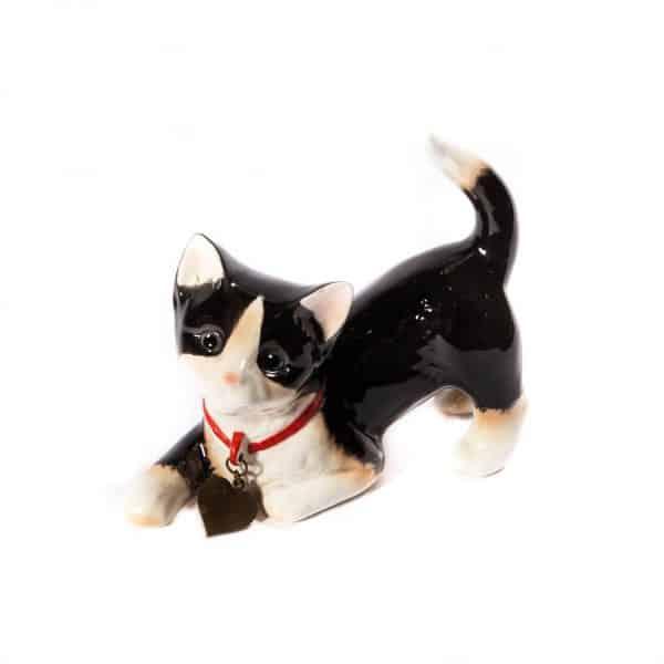 """Фарфоровая статуэтка """"Игривый котик"""""""